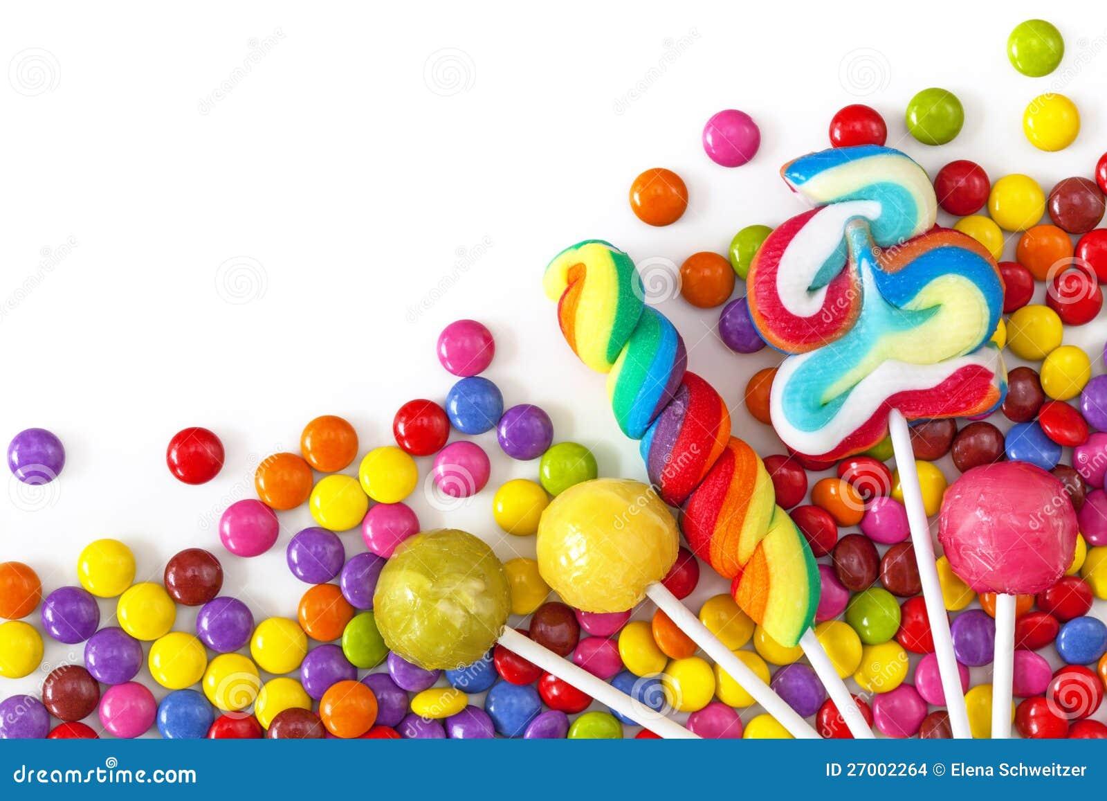 Gemischte Bunte Bonbons Stockfoto Bild Von Süßigkeiten 27002264