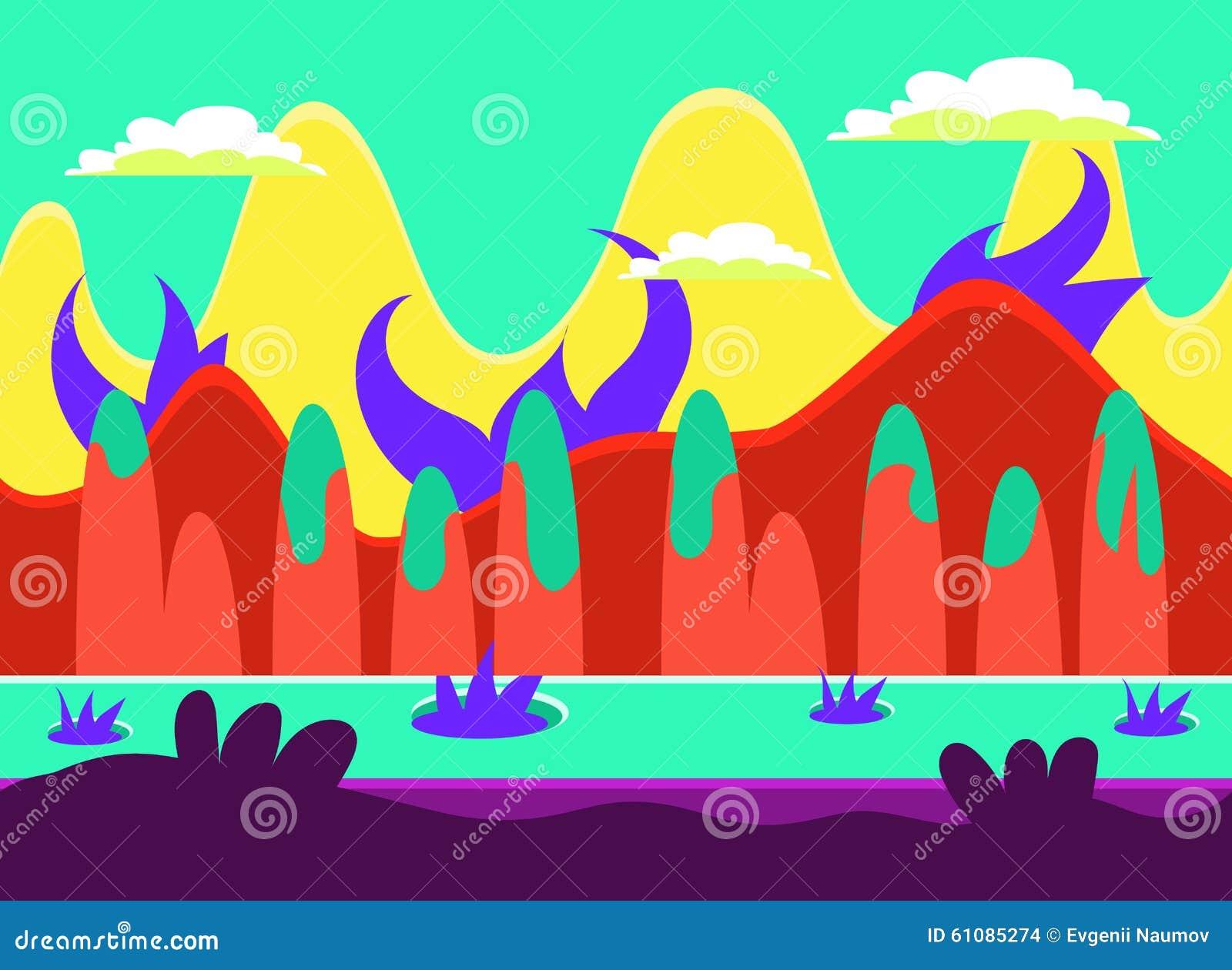 Gemowego tła ilustraci Wektorowy set