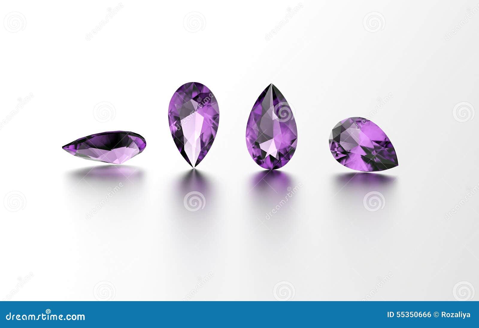 Gemstone Priorità bassa nera dei monili del tessuto dell argento e dell oro amethyst