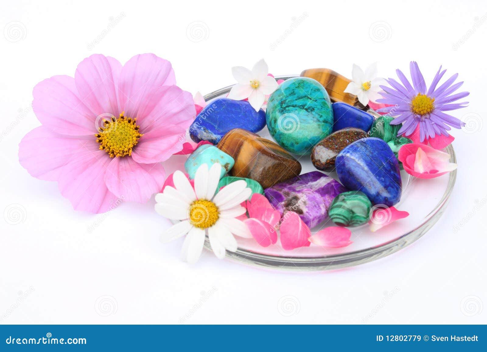 Gemstones e flores