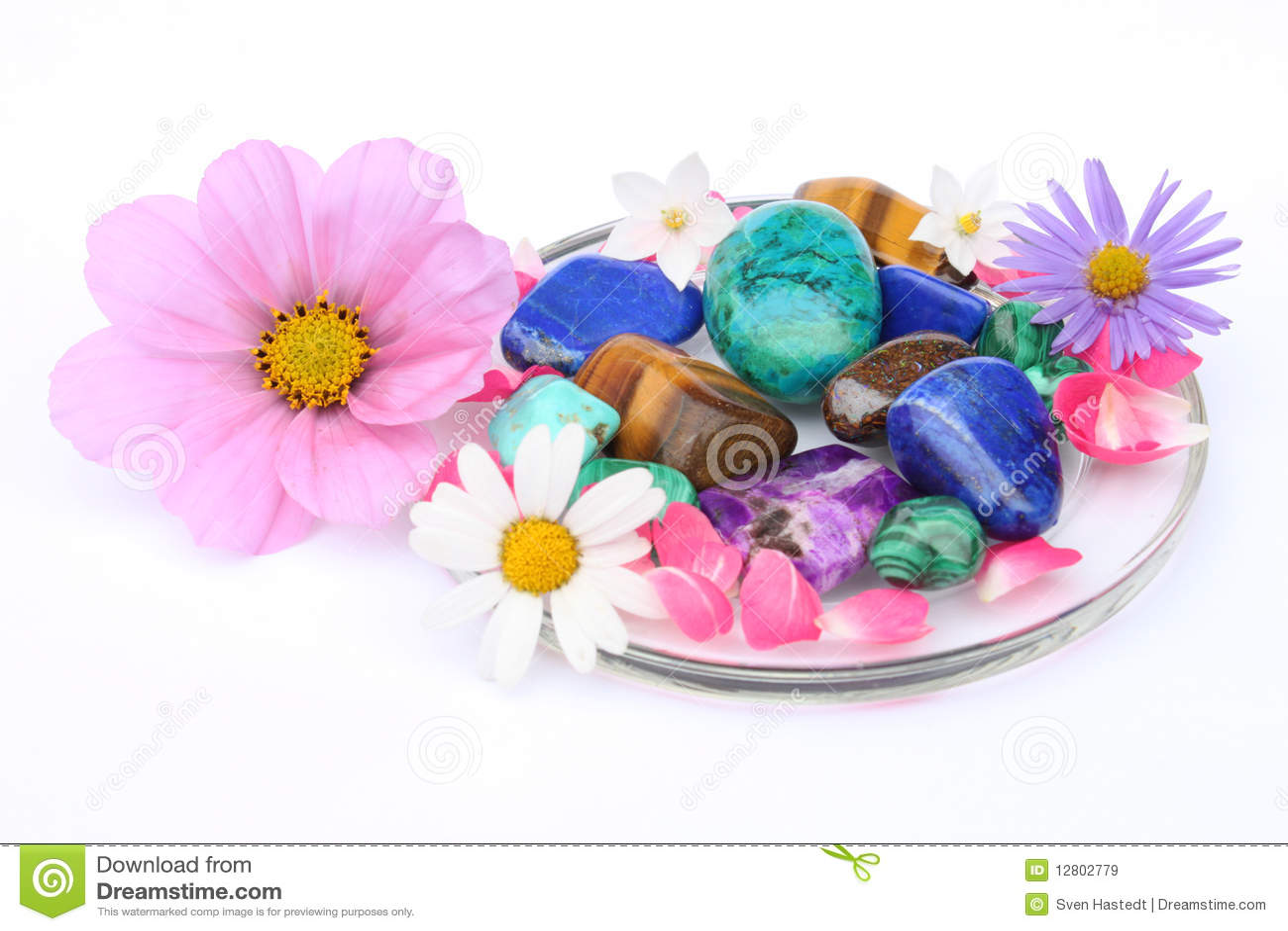 Цветы и драгоценные камни и