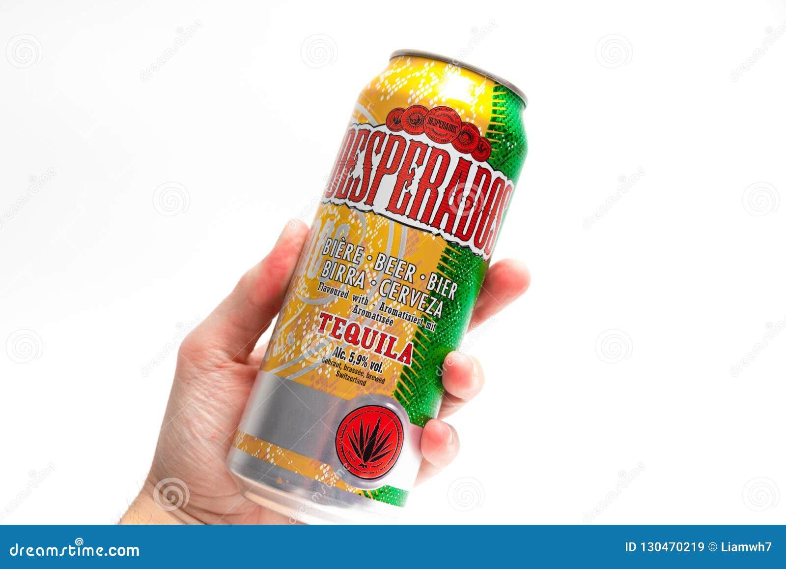Geneve Switzerland 09 09 18 Les Desperados Ont Assaisonne La Tequila De Biere Peuvent Cerveza Image Stock Editorial Image Du Peuvent Geneve 130470219