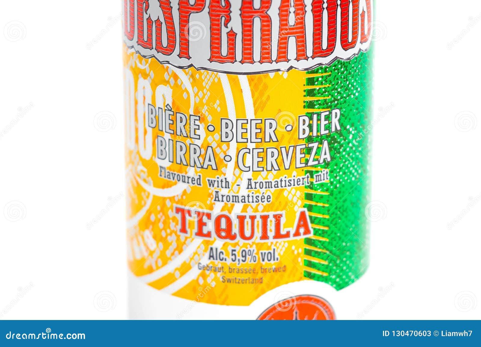 Geneve Switzerland 09 09 18 Les Desperados Ont Assaisonne La Tequila De Biere Peuvent Cerveza Photo Stock Editorial Image Du Geneve Cerveza 130470603