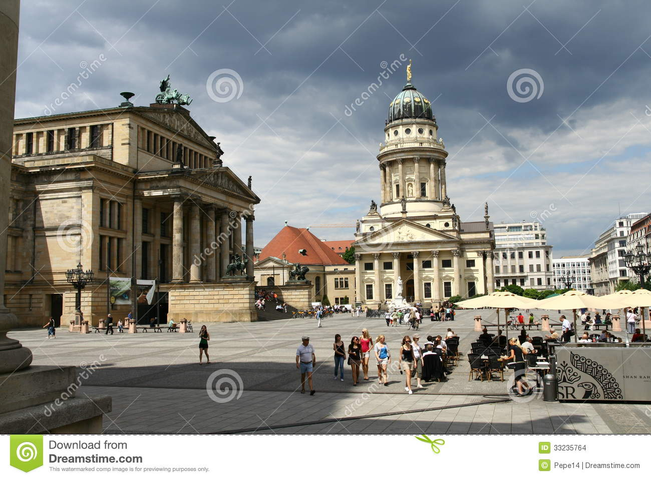 gendarmenmarkt in berlin editorial stock image image of capital 33235764. Black Bedroom Furniture Sets. Home Design Ideas