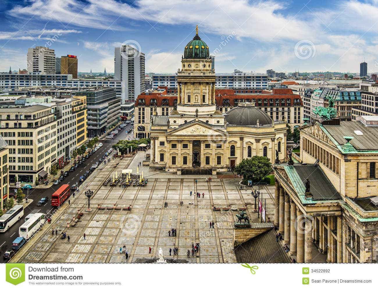 gendarmenmarkt square in berlin stock photo image 34522892. Black Bedroom Furniture Sets. Home Design Ideas