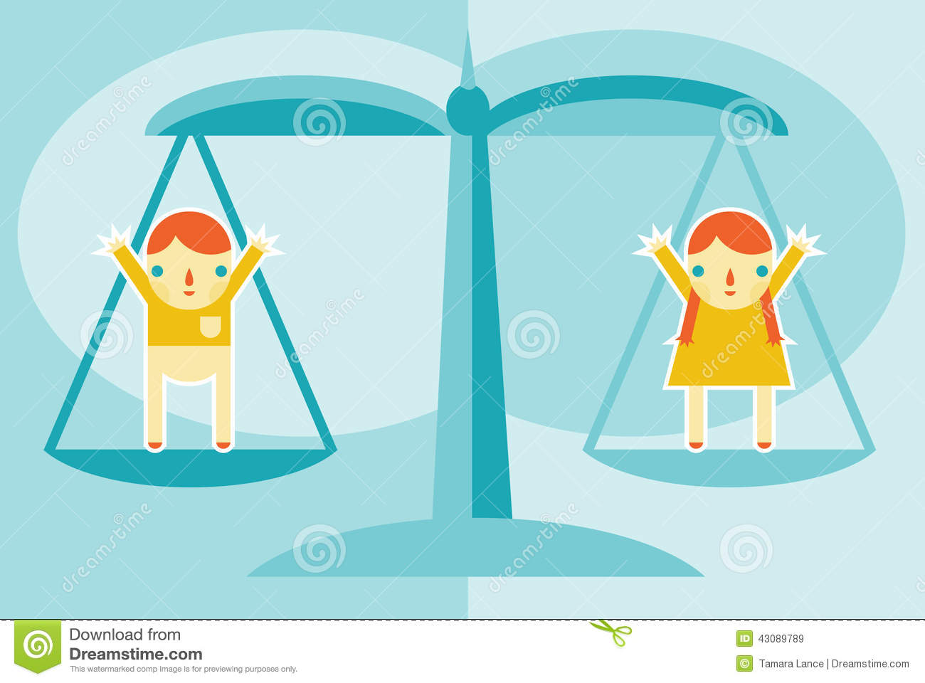 Gender Equality Stock Vector