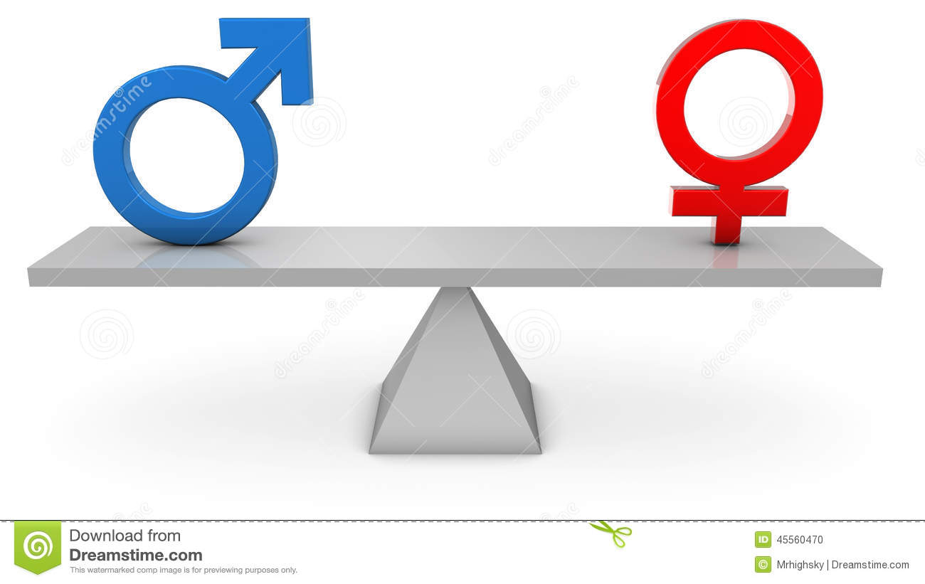 Gender equality stock illustrations 2436 gender equality stock gender equality 3d render of gender symbols on a seesaw stock photo buycottarizona
