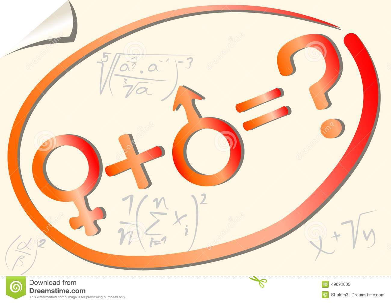 Gender mathematical equation with female and male symbol stock gender mathematical equation with female and male symbol biocorpaavc Choice Image