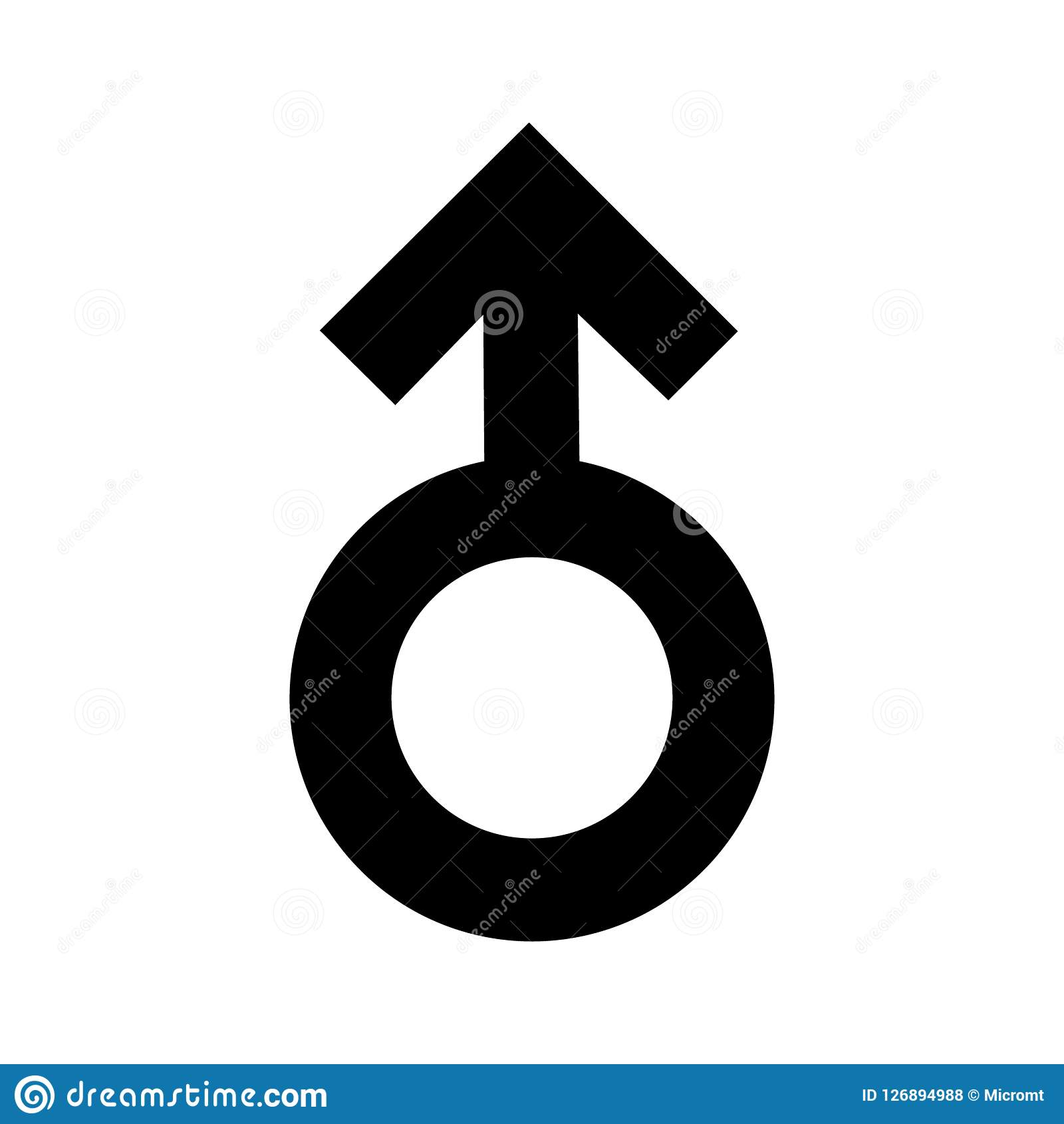 Gender men signs black icon. A symbol sexual affiliation. Flat style for graphic design, logo. A lot of soot. A happy love. Vector