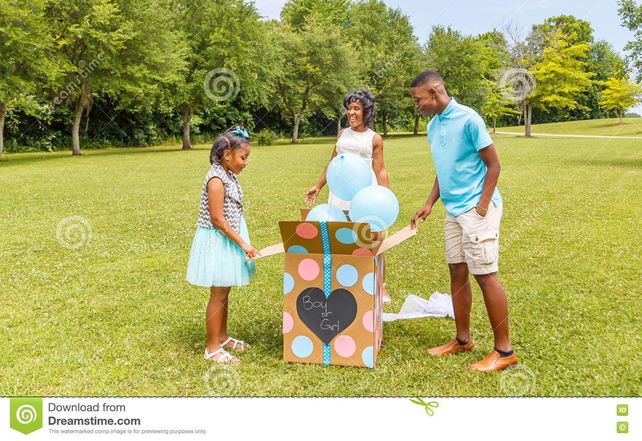 Gender Reveal, Expecting Mother to Two Children