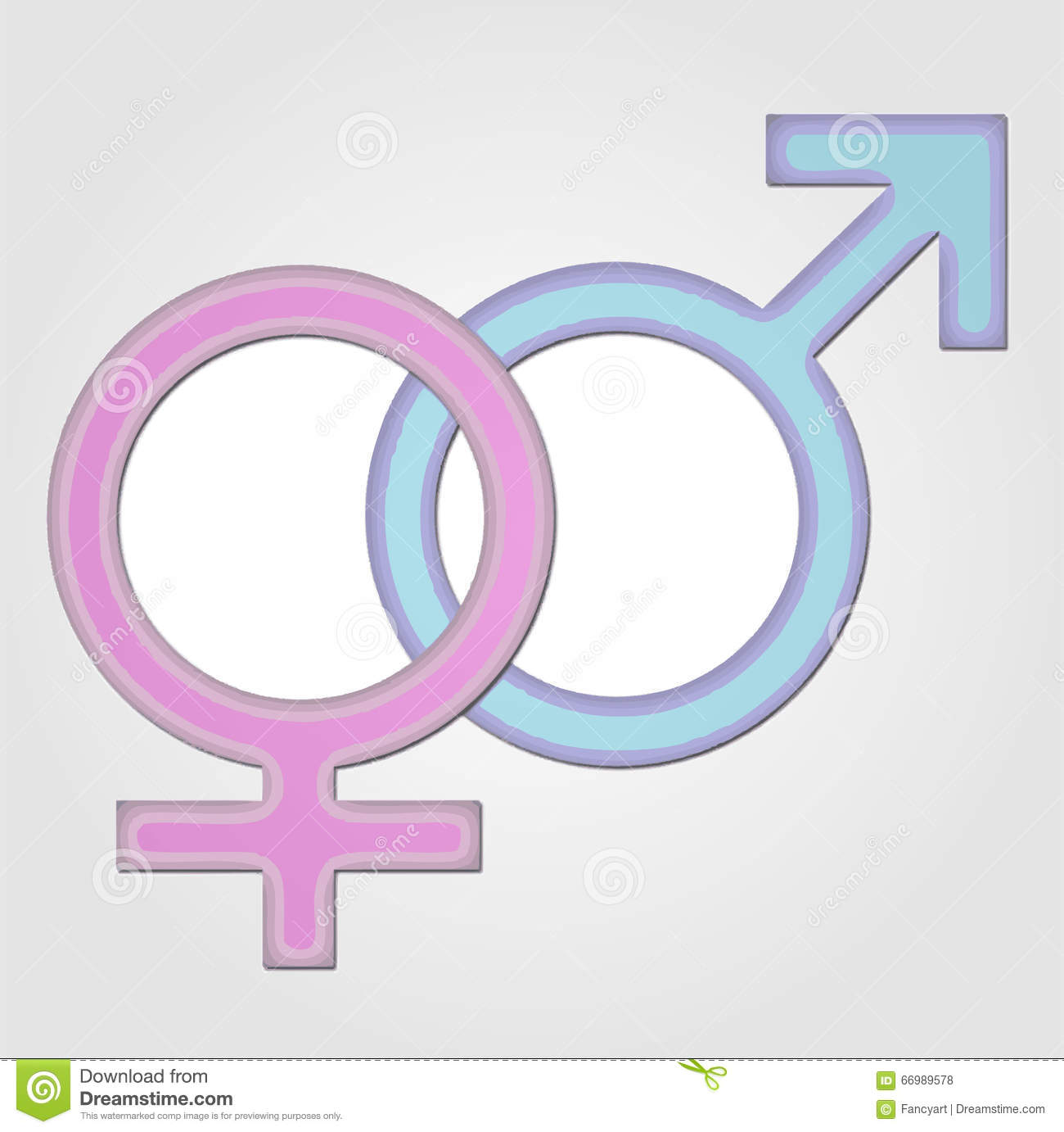 gender symbol girl and boy stock vector image 66989578