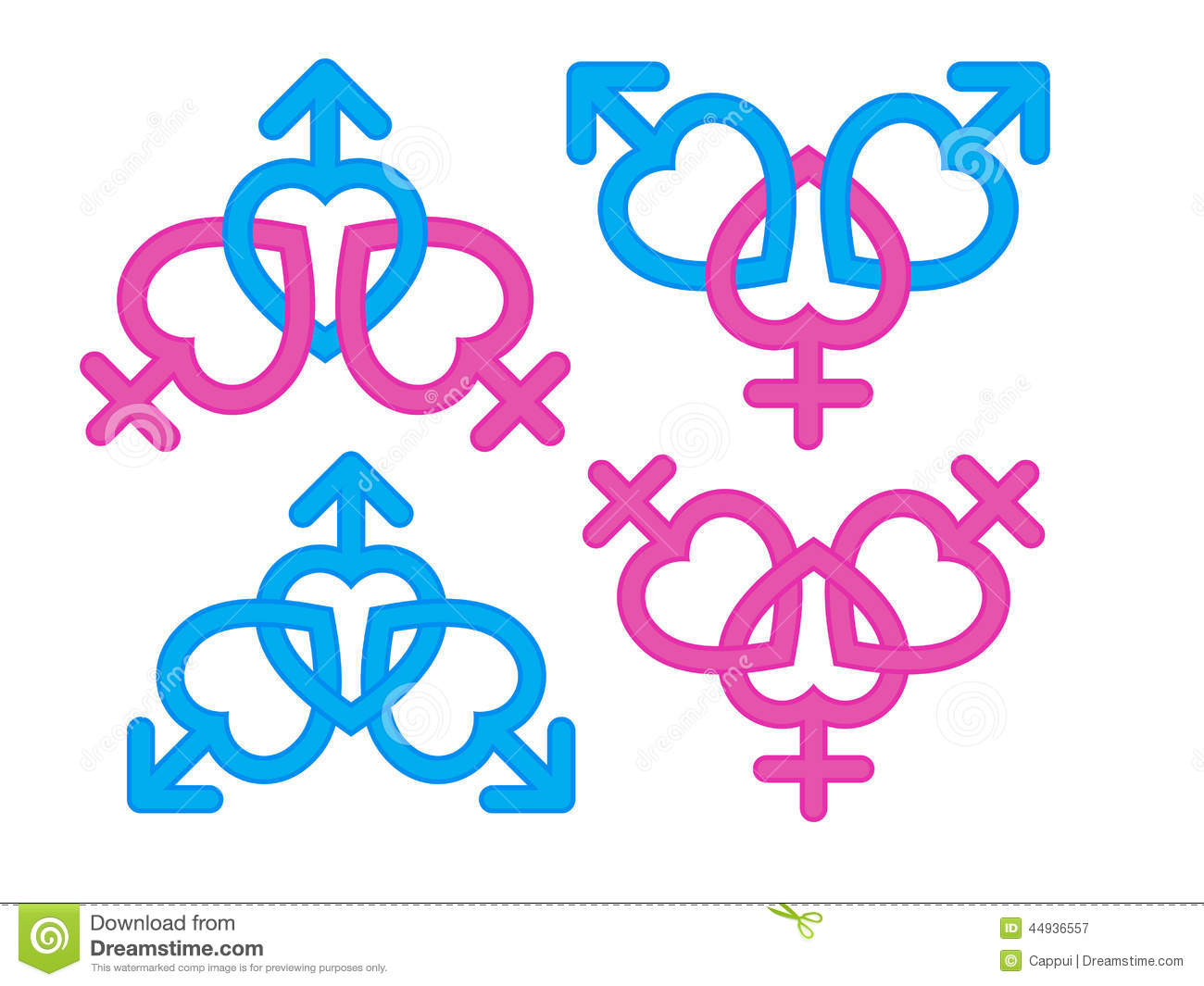 Bisexual gender symbol