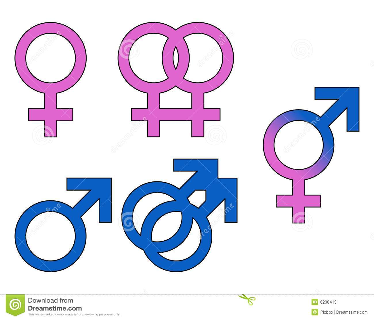 Gender Symbols Male Female Stock Vector Illustration Of Symbol