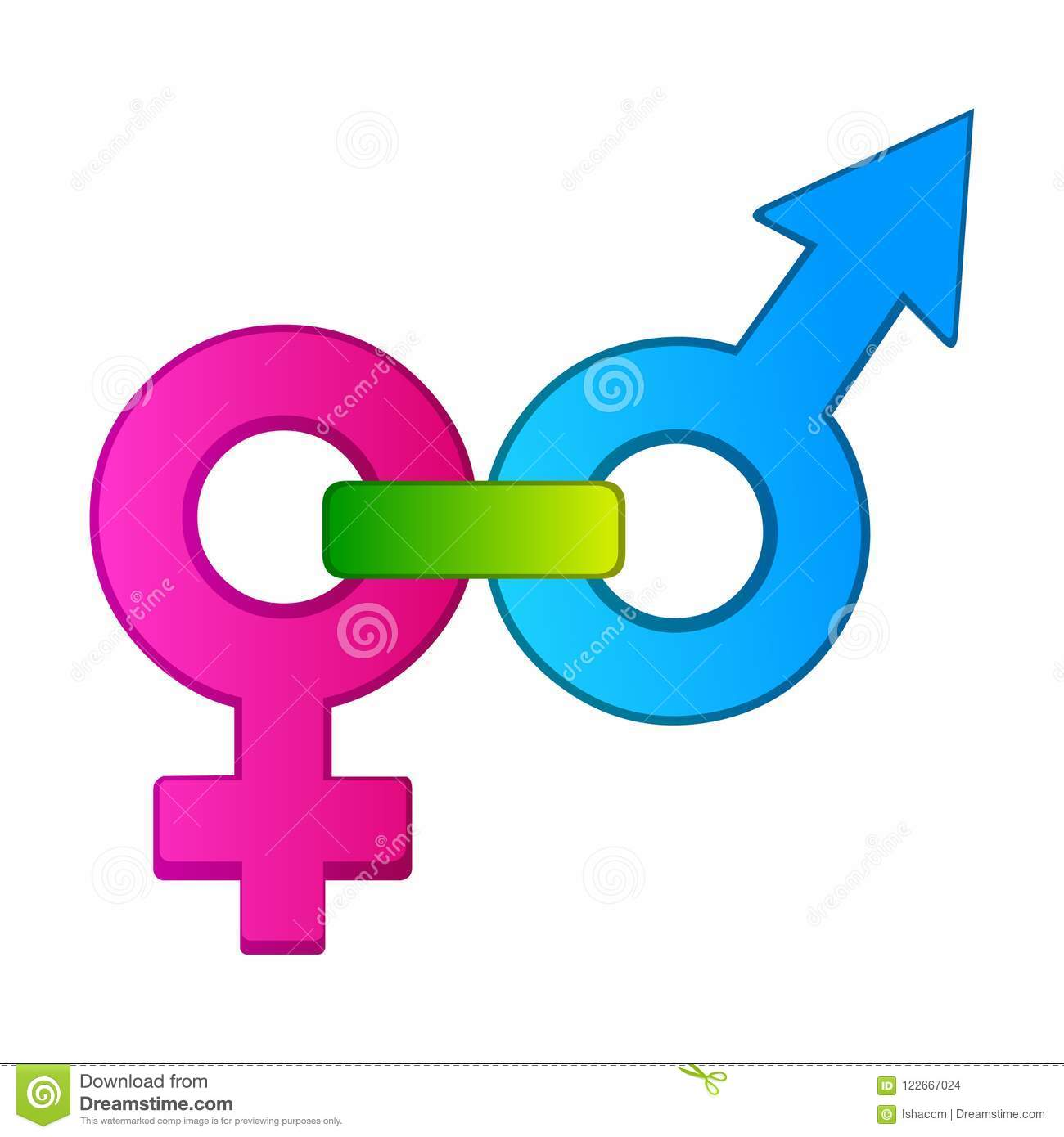 Gender Symbols Le And Female Icons Stock Vector Illustration