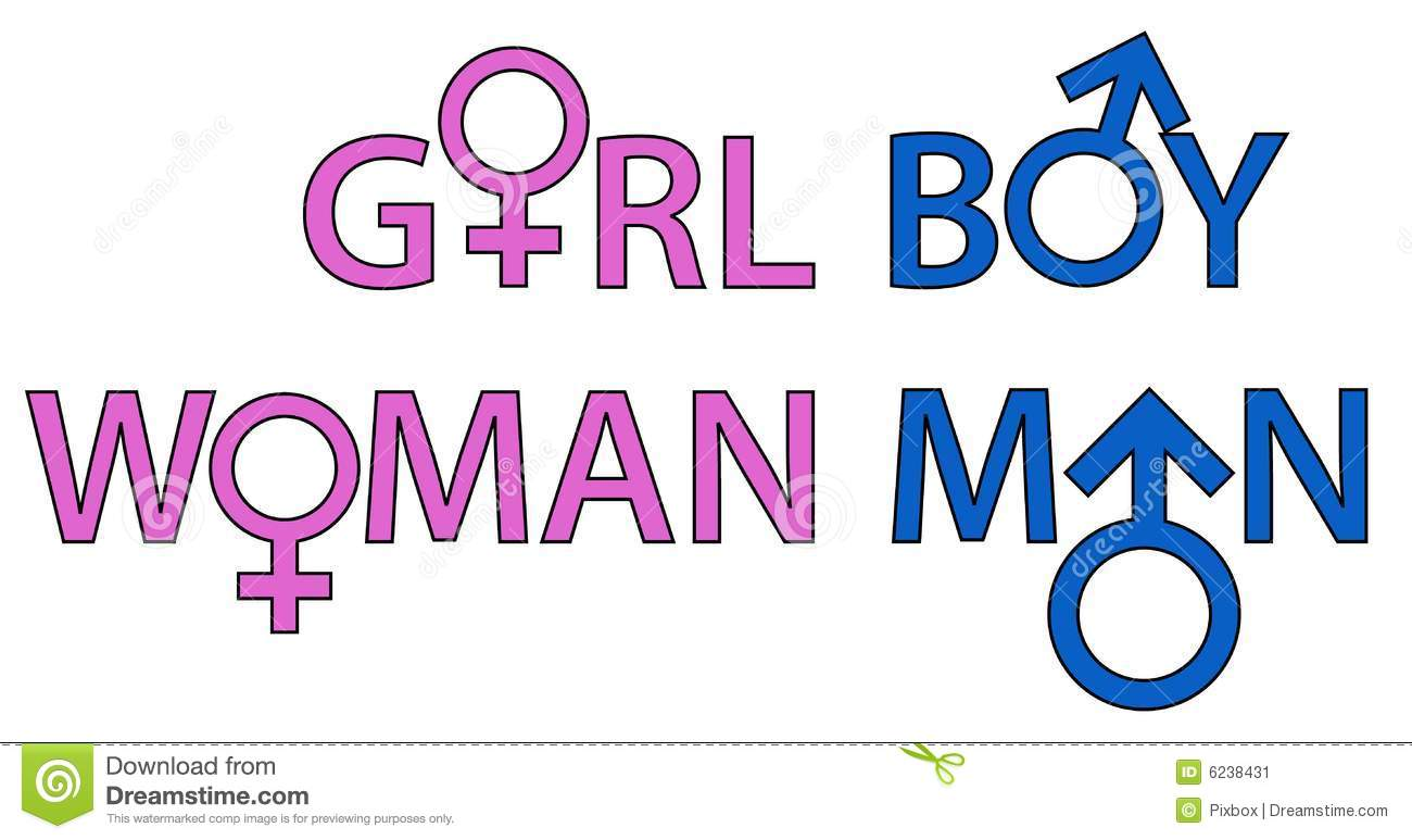 Gender Symbols Words Stock Vector Illustration Of Logo 6238431