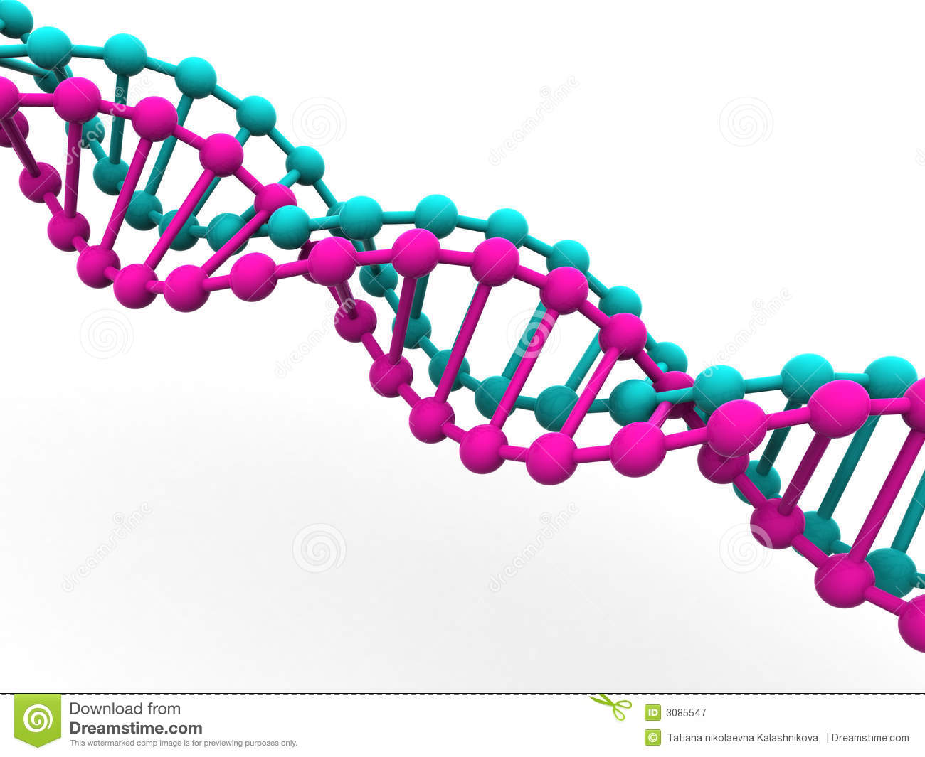 Gene In DNA. Royalty Free Stock Photography - Image: 3085547