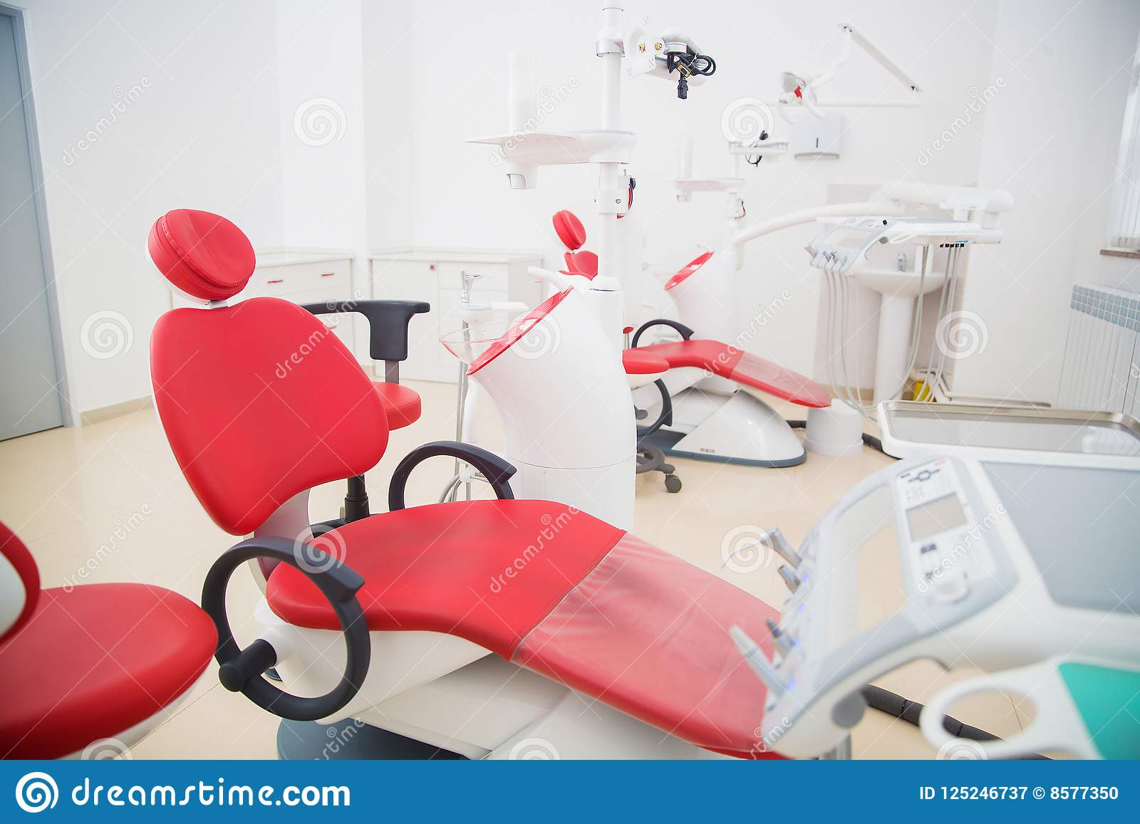 Geneeskunde, de stomatologie, tandkliniekbureau, medische apparatuur voor tandheelkunde