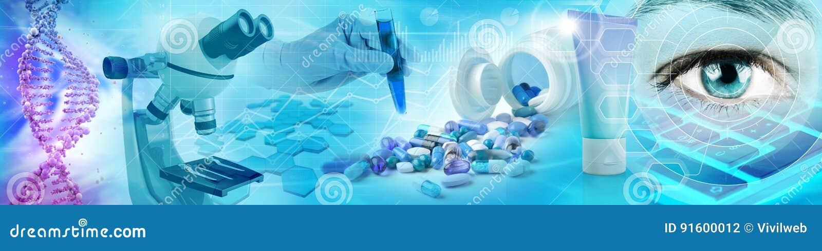 Geneesmiddel en het concept van het biochemieonderzoek
