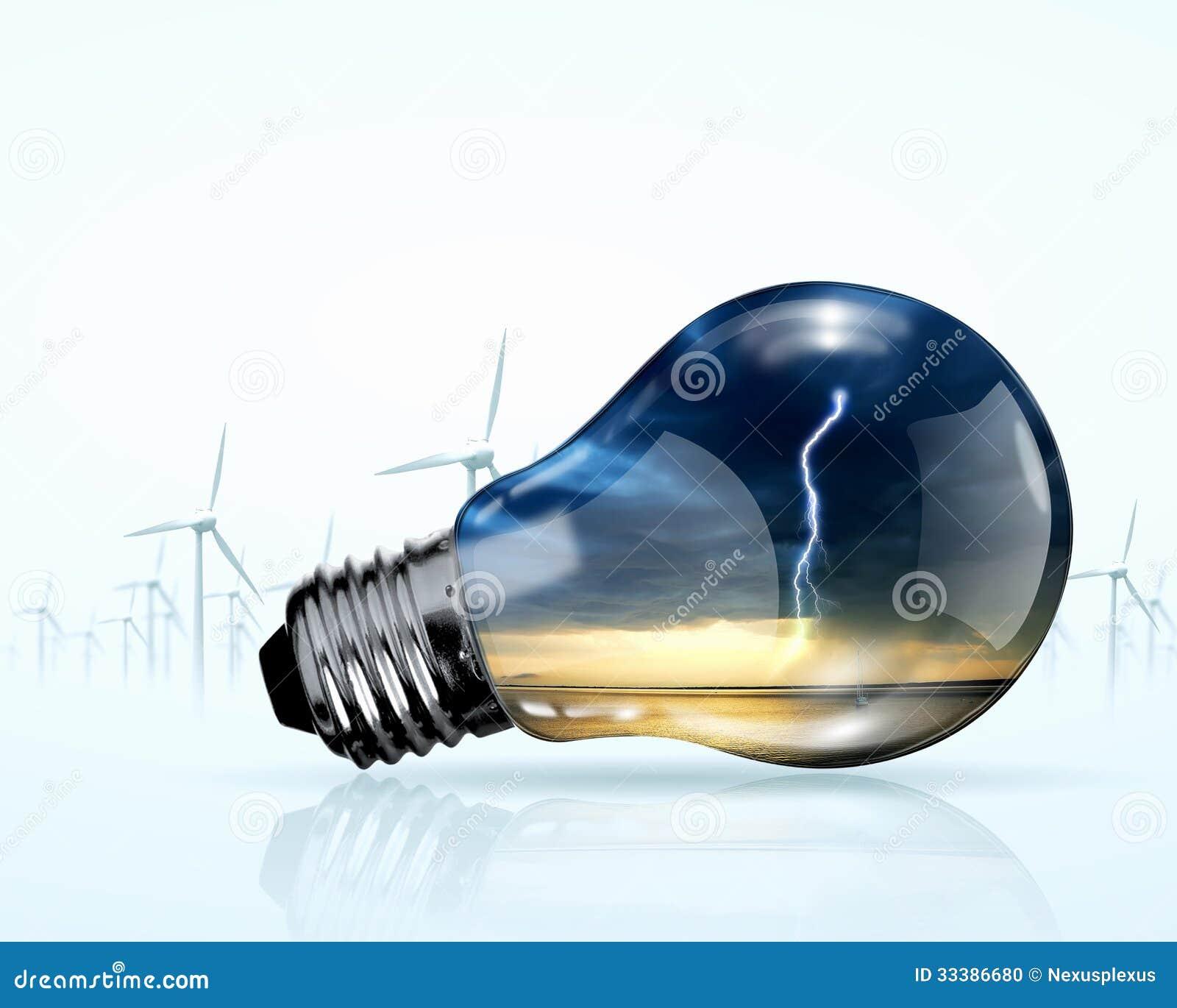 Generadores eléctricos del bulbo y del molino de viento