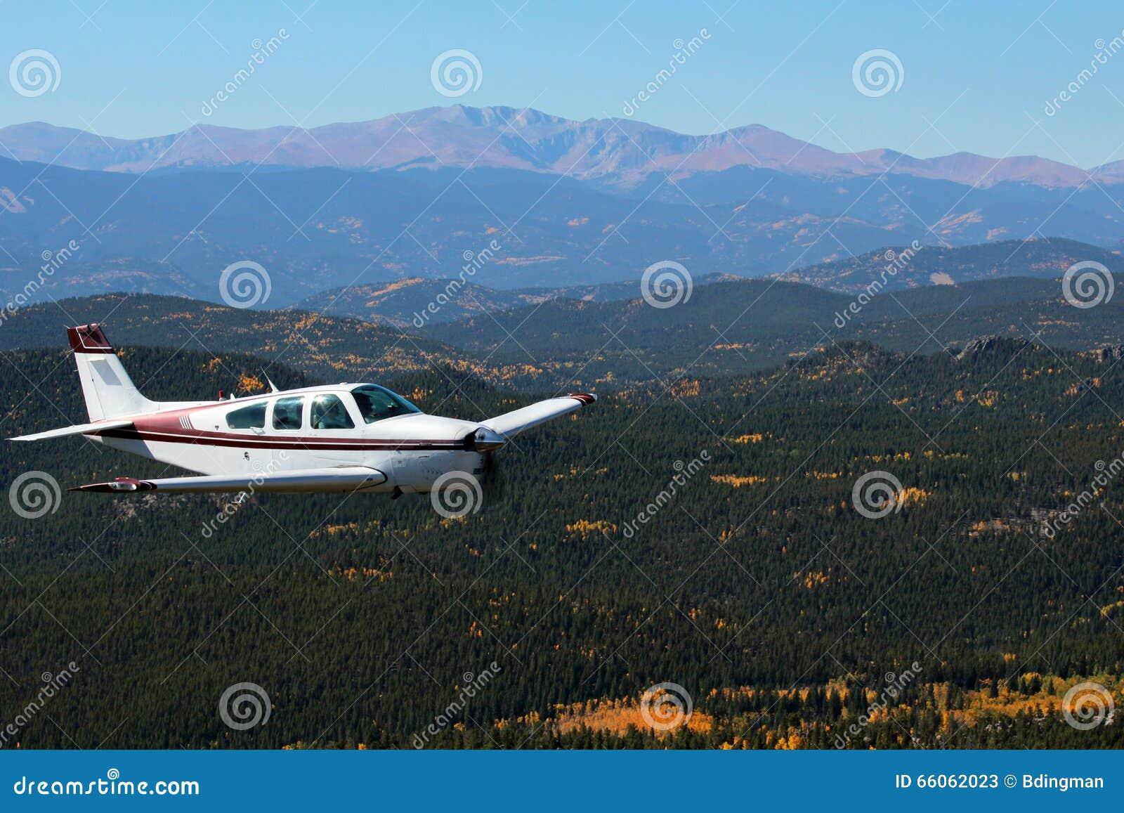 General Aviation - Beechcraft Bonanza Stock Image - Image of flight
