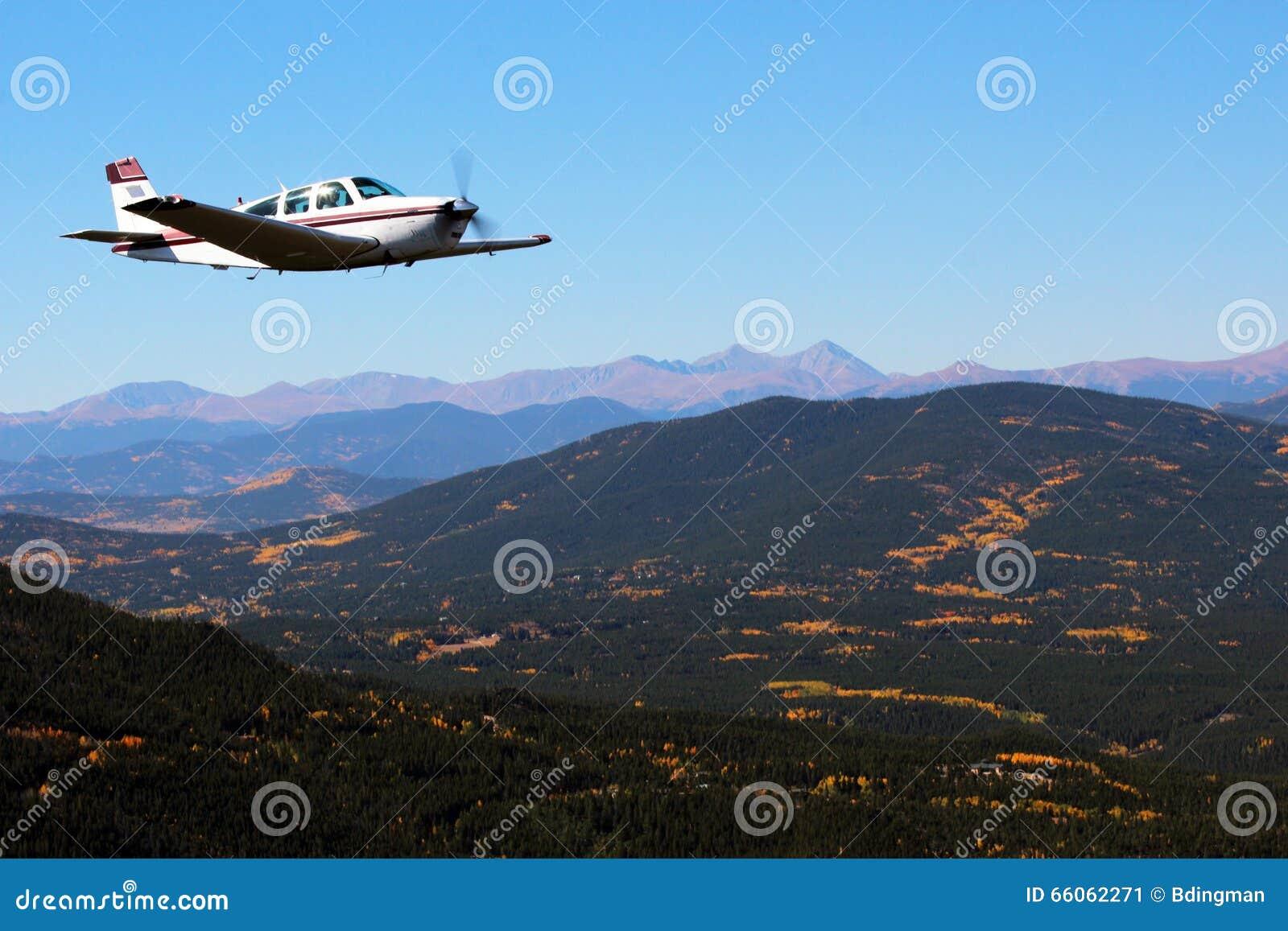 General Aviation - Beechcraft Bonanza Stock Image - Image of flying