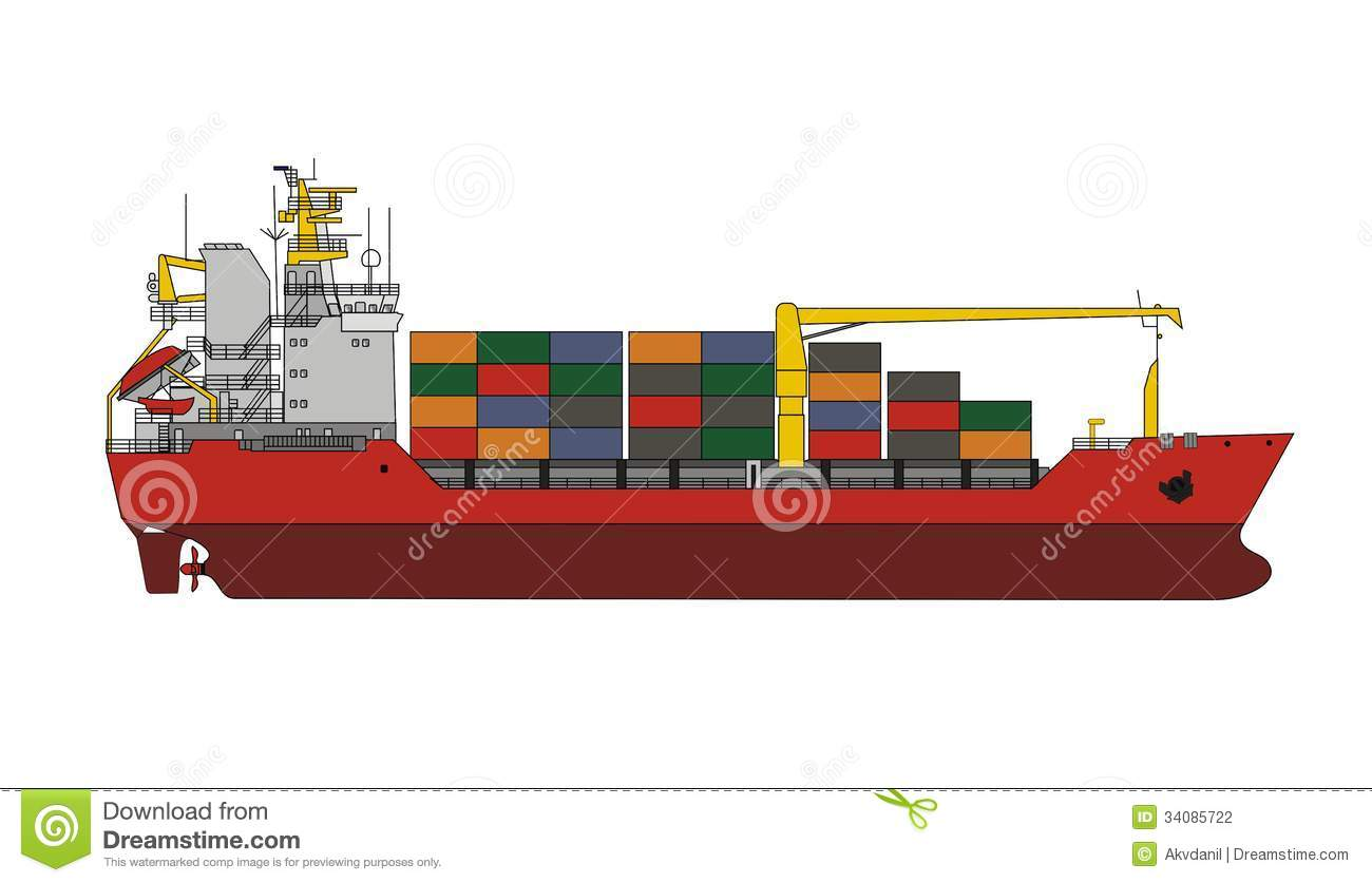 General Cargo Vessel Stock Photography Image 34085722