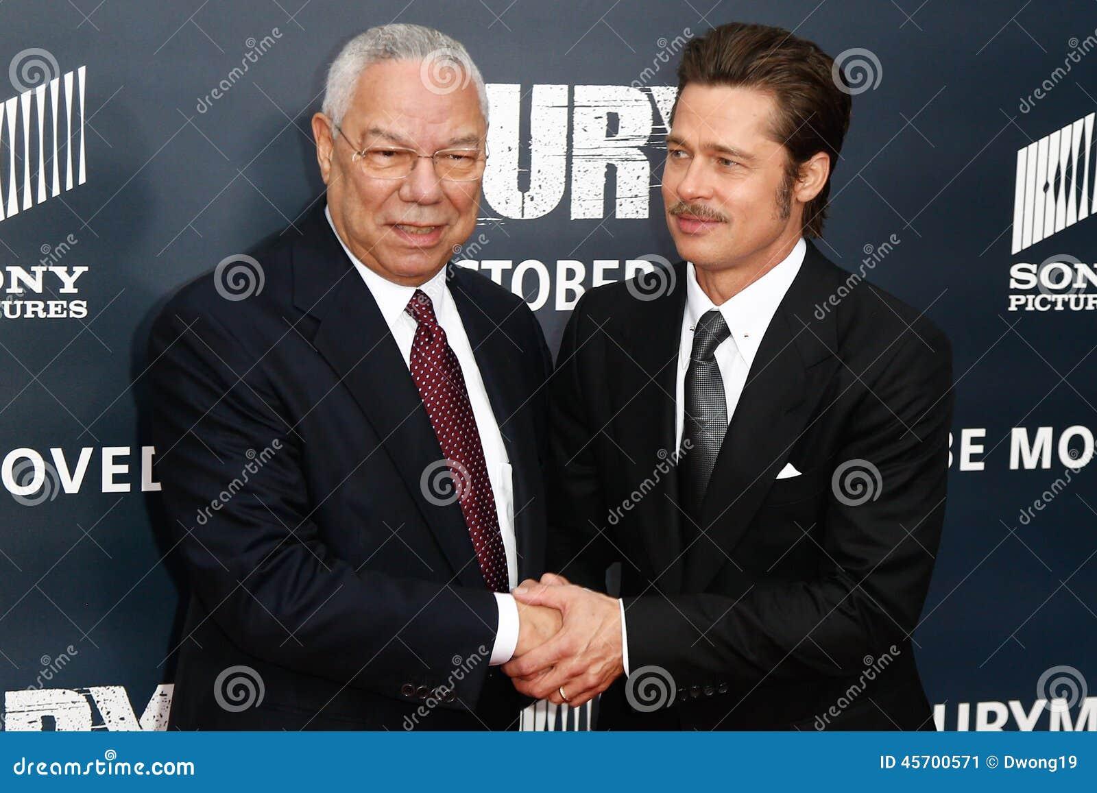 General Colin Powell, Brad Pitt