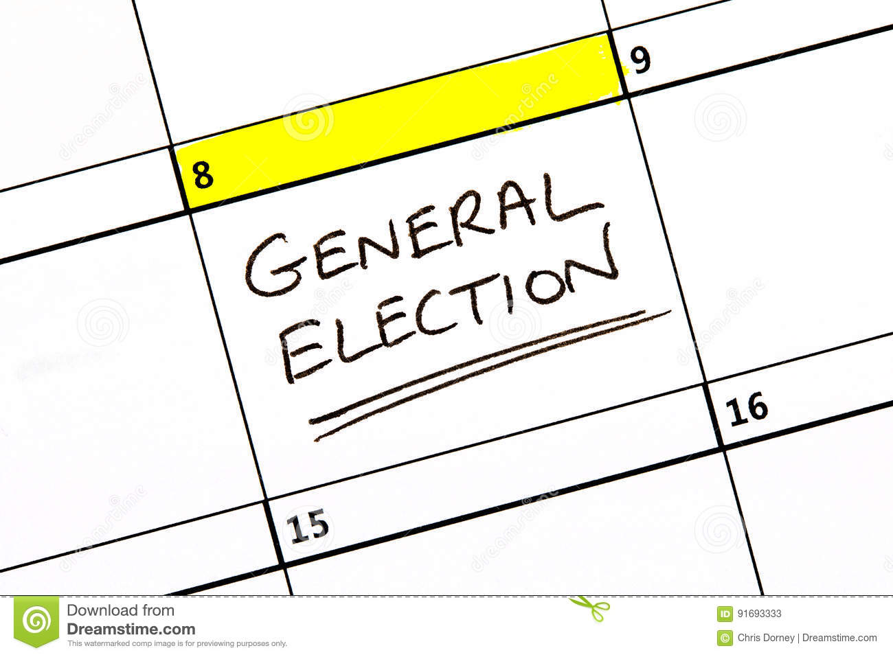 General election date in Perth