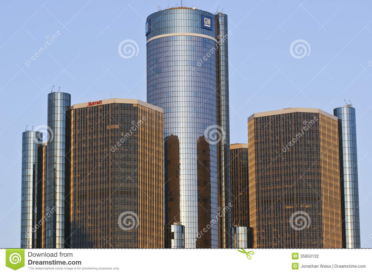 General Motors Headquarters Editorial Photography Image