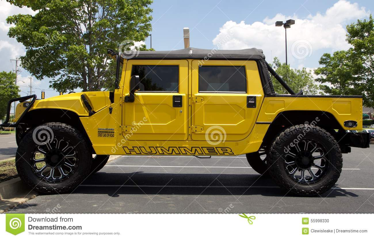 hummer sport utility vehicle yellow editorial image image 55998330. Black Bedroom Furniture Sets. Home Design Ideas