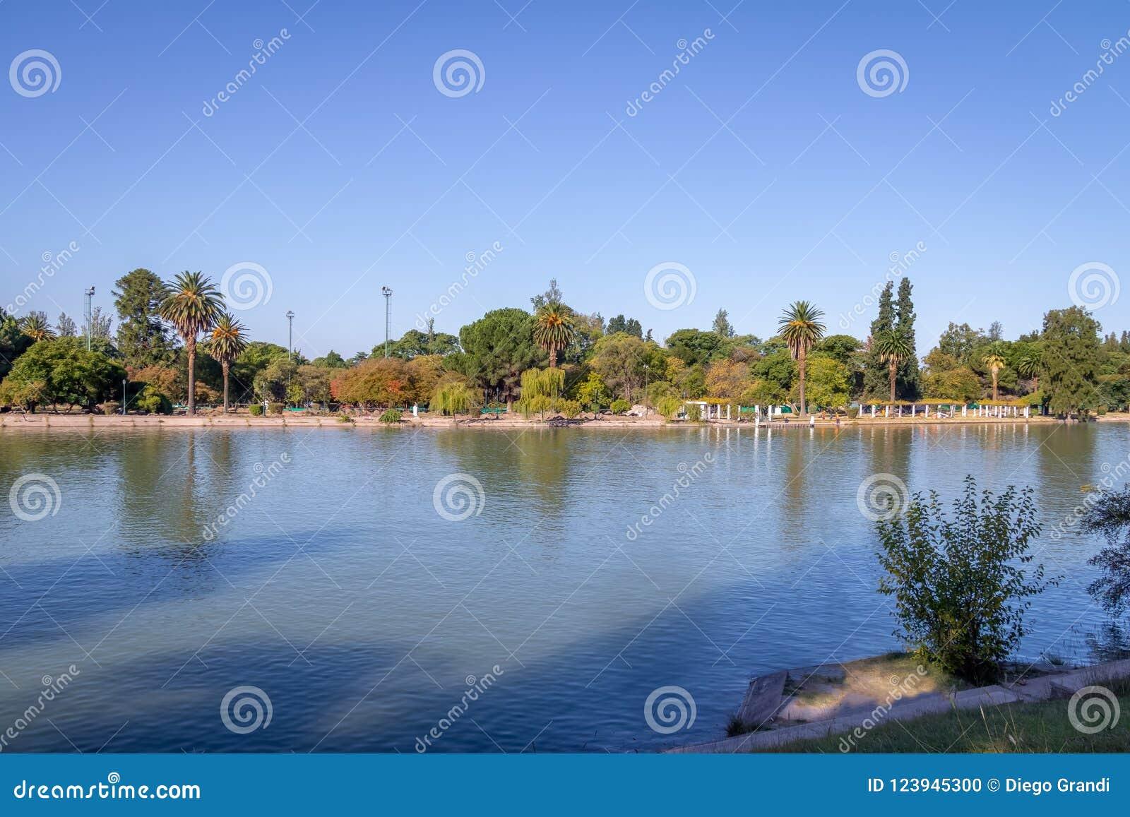 General San Martin Park Lake - Mendoza, Argentina