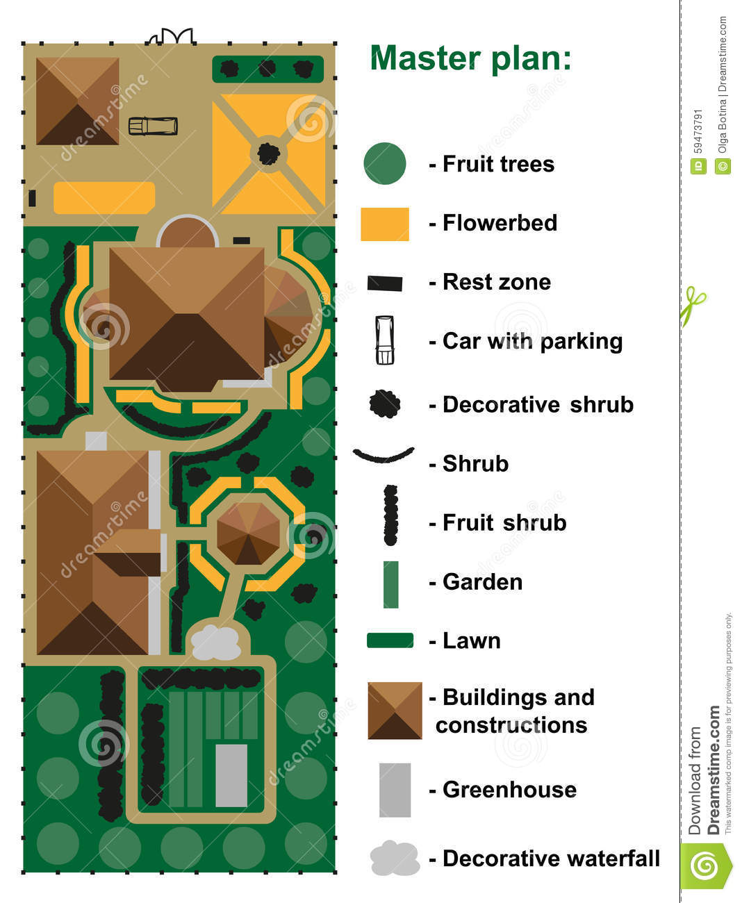 General site plan to house. General Site Plan To House Stock Vector   Image  59473791