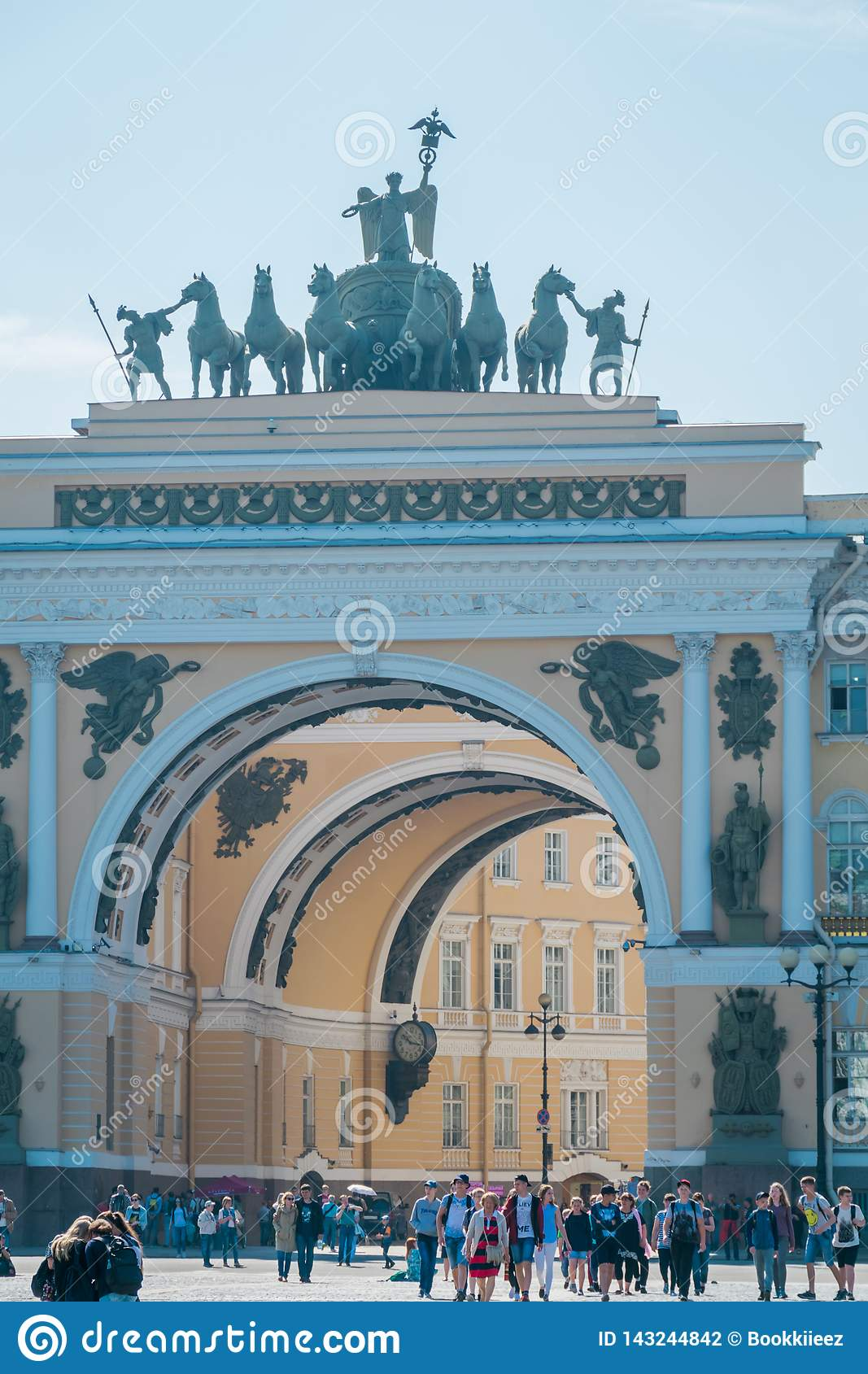 The General Staff building, State Hermitage Museum, St. Petersburg, Russia.