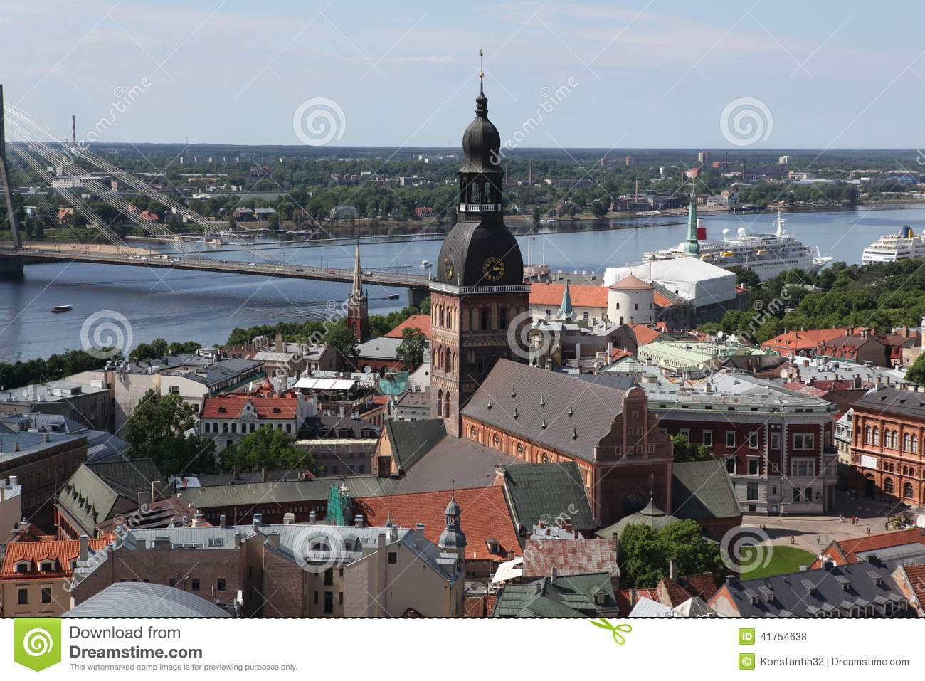 The general view of Riga, Latvia