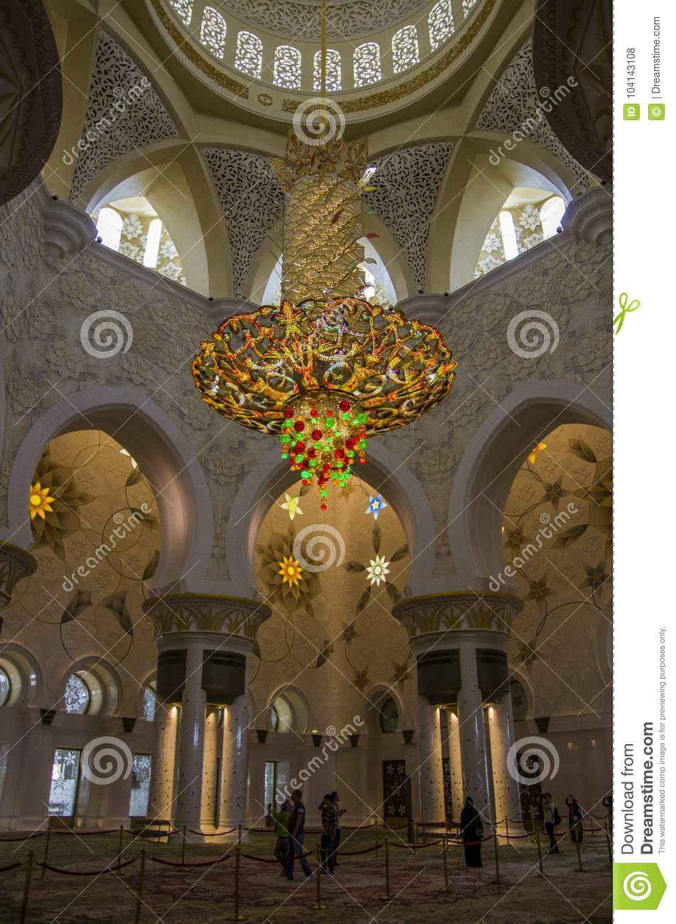 Exterior: Interior Of Sheikh Zayed Grand Mosque In Abu Dhabi