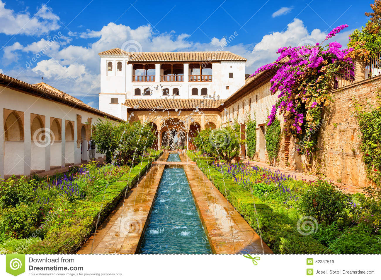 The Generalife Of The Alhambra De Granada, Spain Stock Photo - Image: 52387519