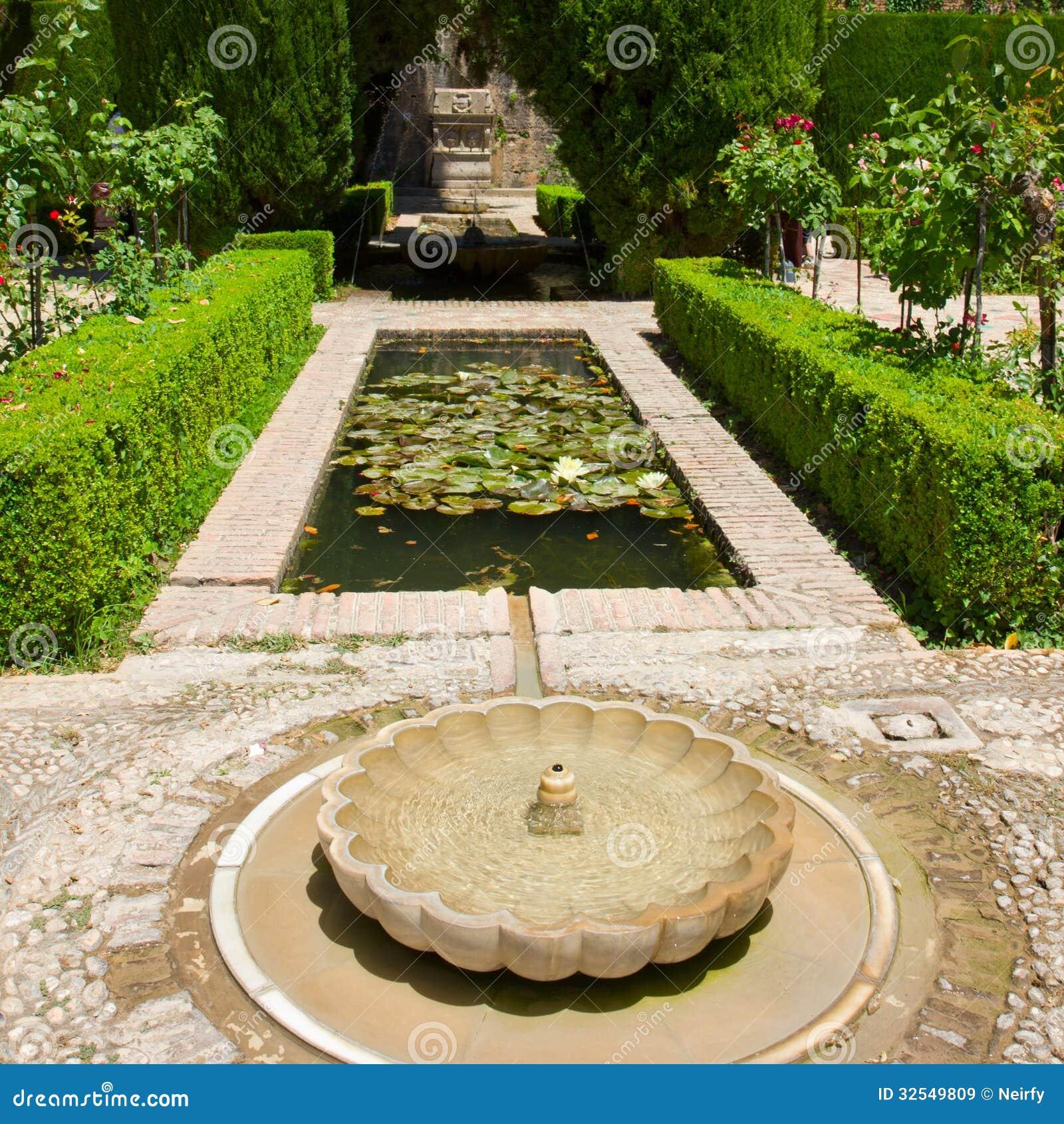 Generalife gardens granada royalty free stock images for Generalife gardens