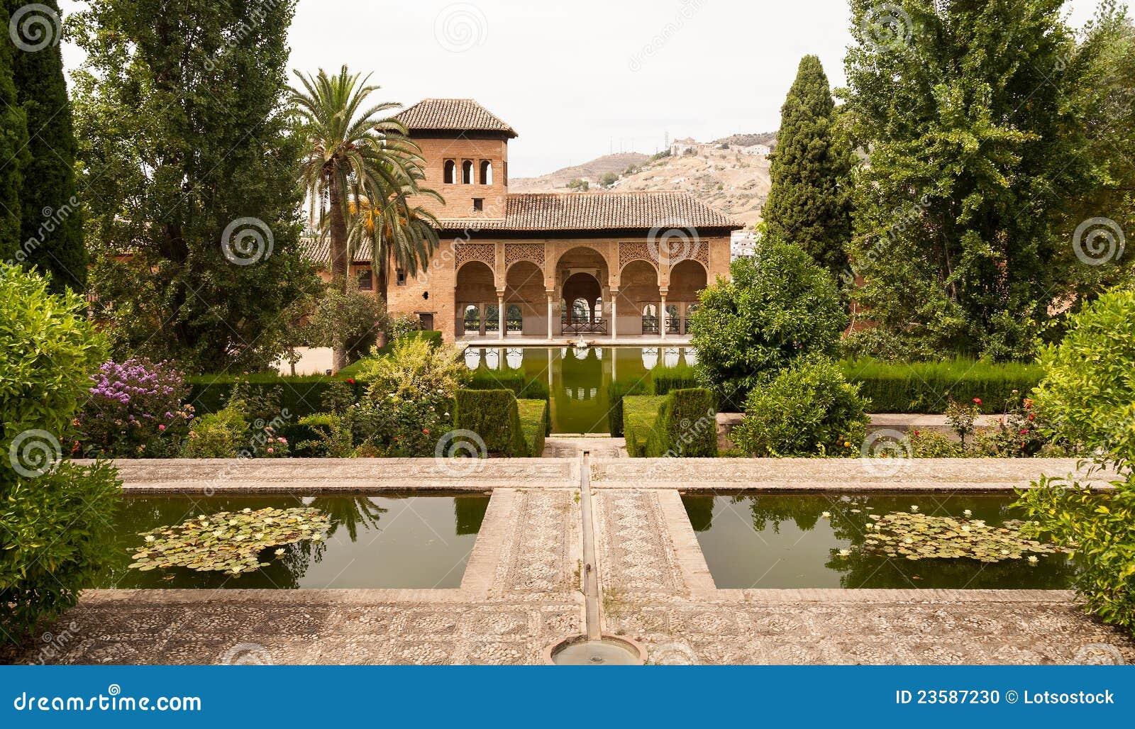 Generalife gardens inside the alhambra palace stock photo for Generalife gardens