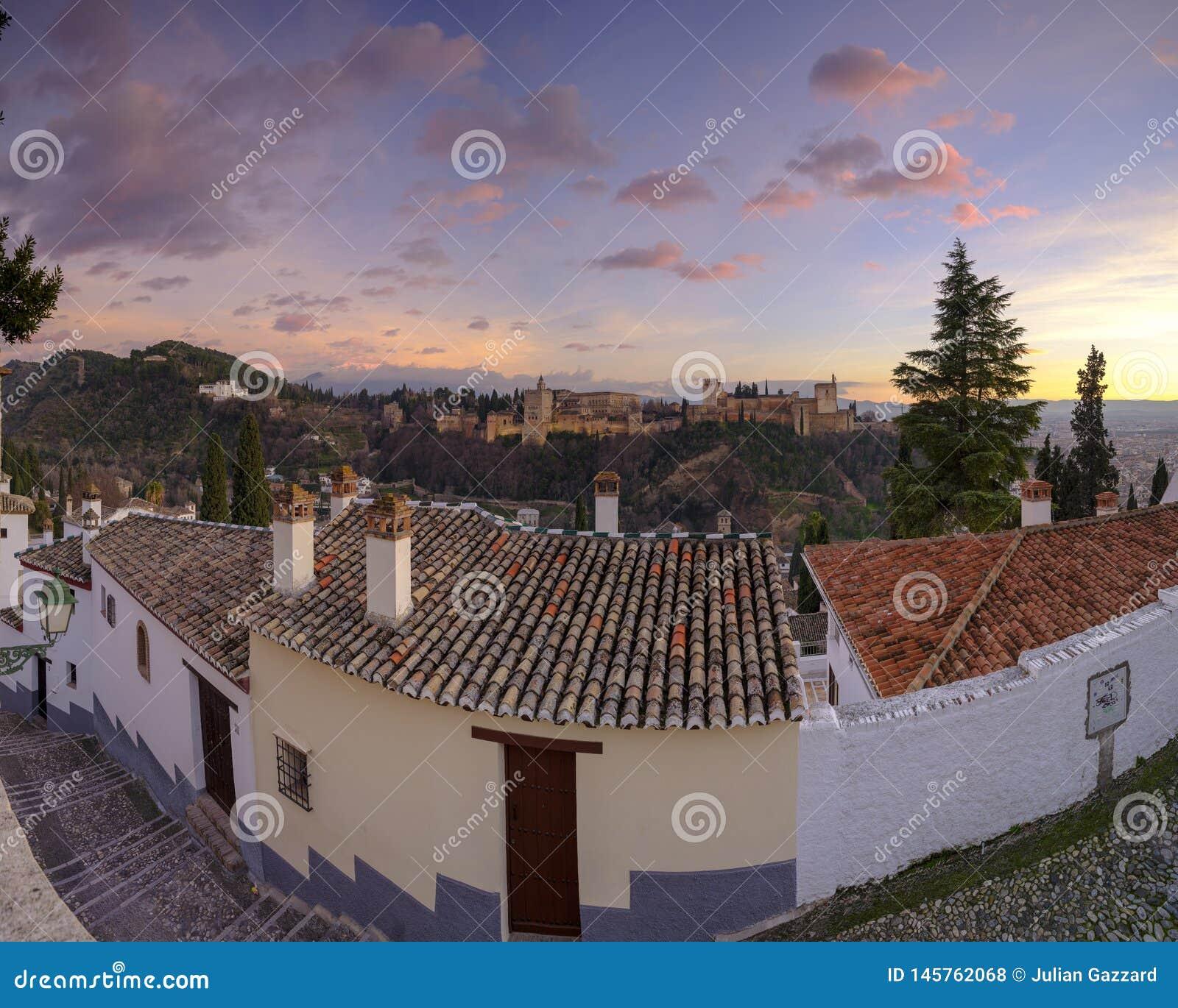 Generalife pałac i Alhambra, Grenada, Hiszpania
