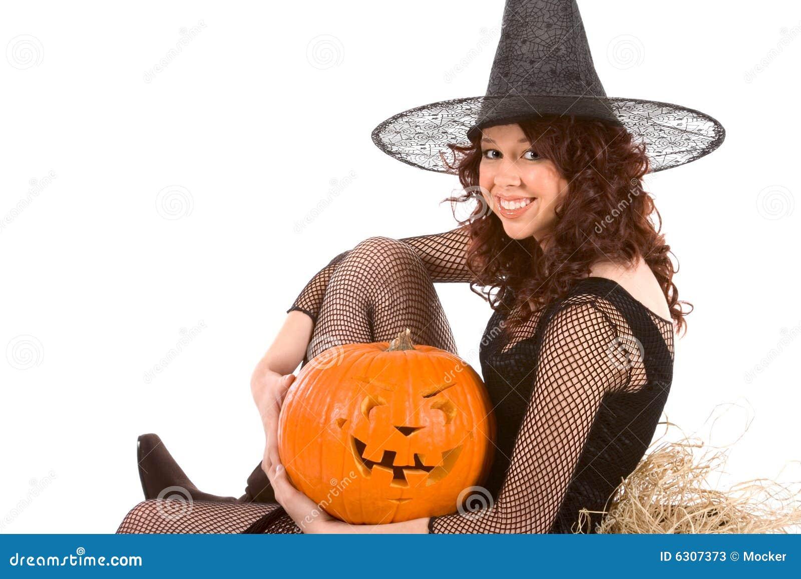 Generalna Halloween dynia nastoletniej dziewczyny