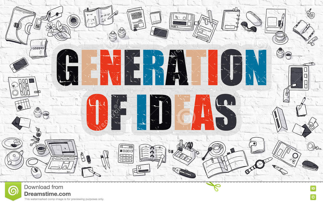 Enjoyable Generation Of Ideas Concept With Doodle Design Icons Stock Home Remodeling Inspirations Propsscottssportslandcom