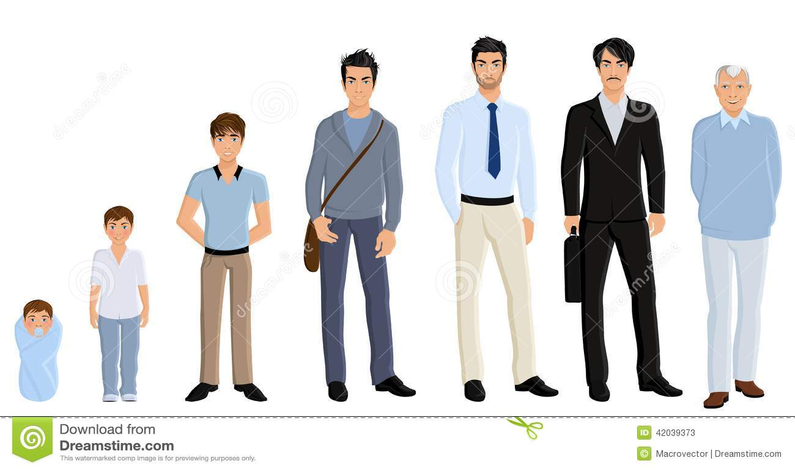 Generation man set stock vector. Illustration of little ...