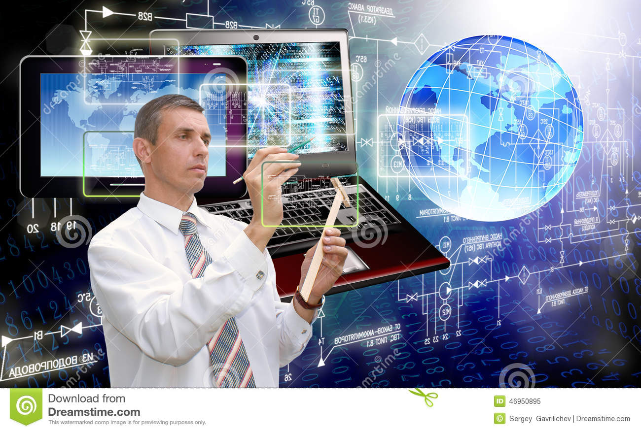 generation new computer technology connection stock photo