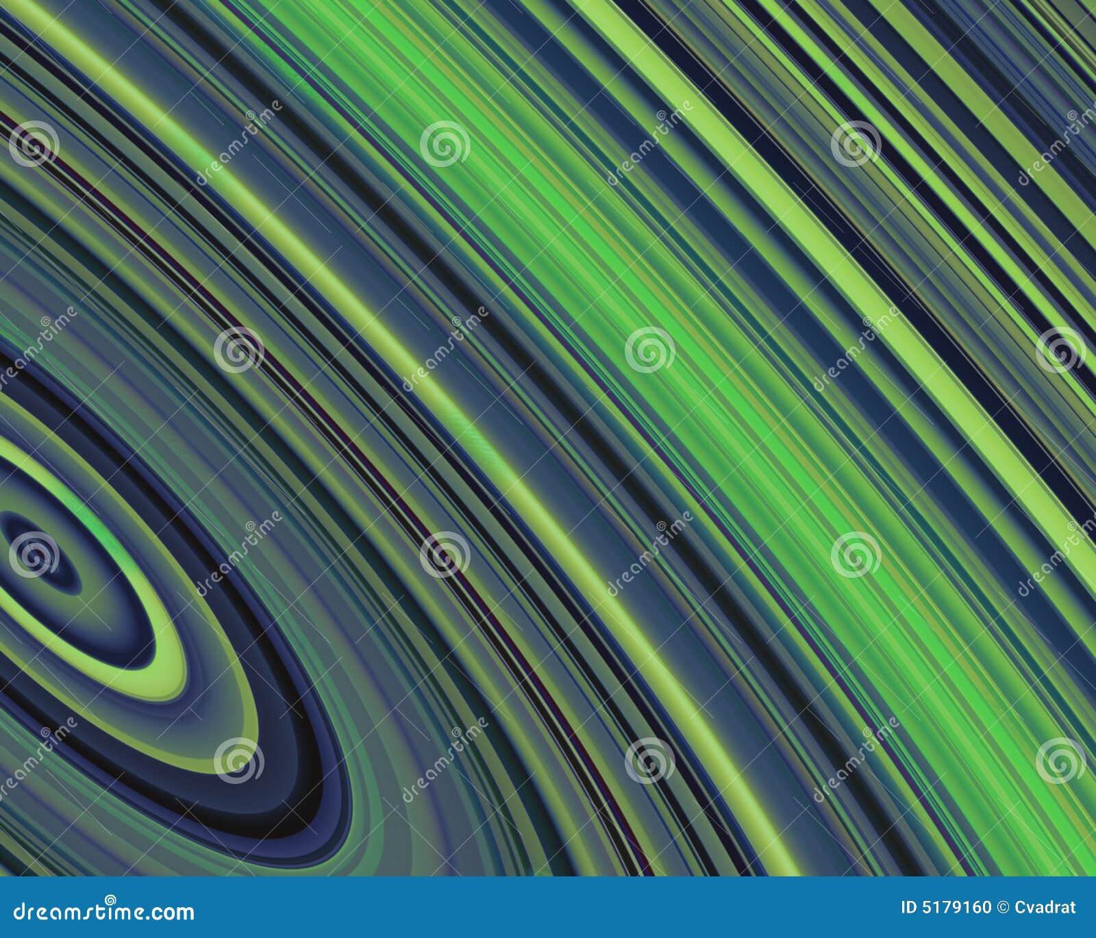 Generative Kunst-äußere Ring-grün-blaue Farben Stock Abbildung ...