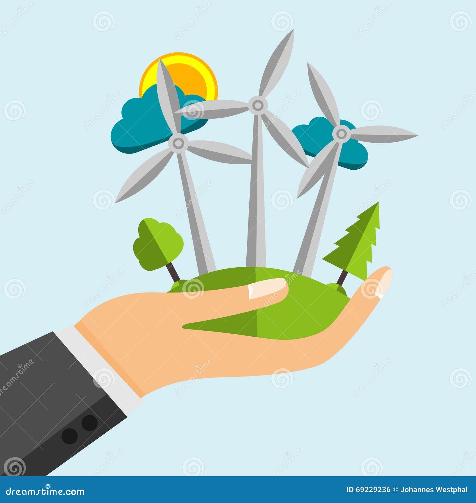 Generatore eolico fonti di energia rinnovabili in mano for Generatore di piano di pavimento online gratuito