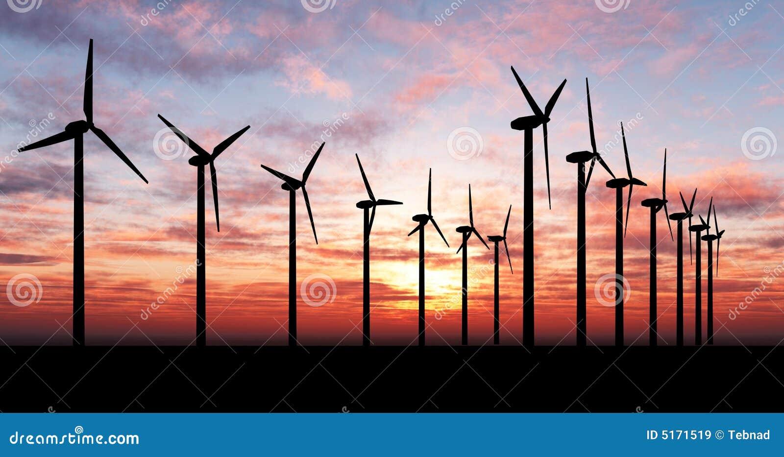 Generatorer som är orange över skywind