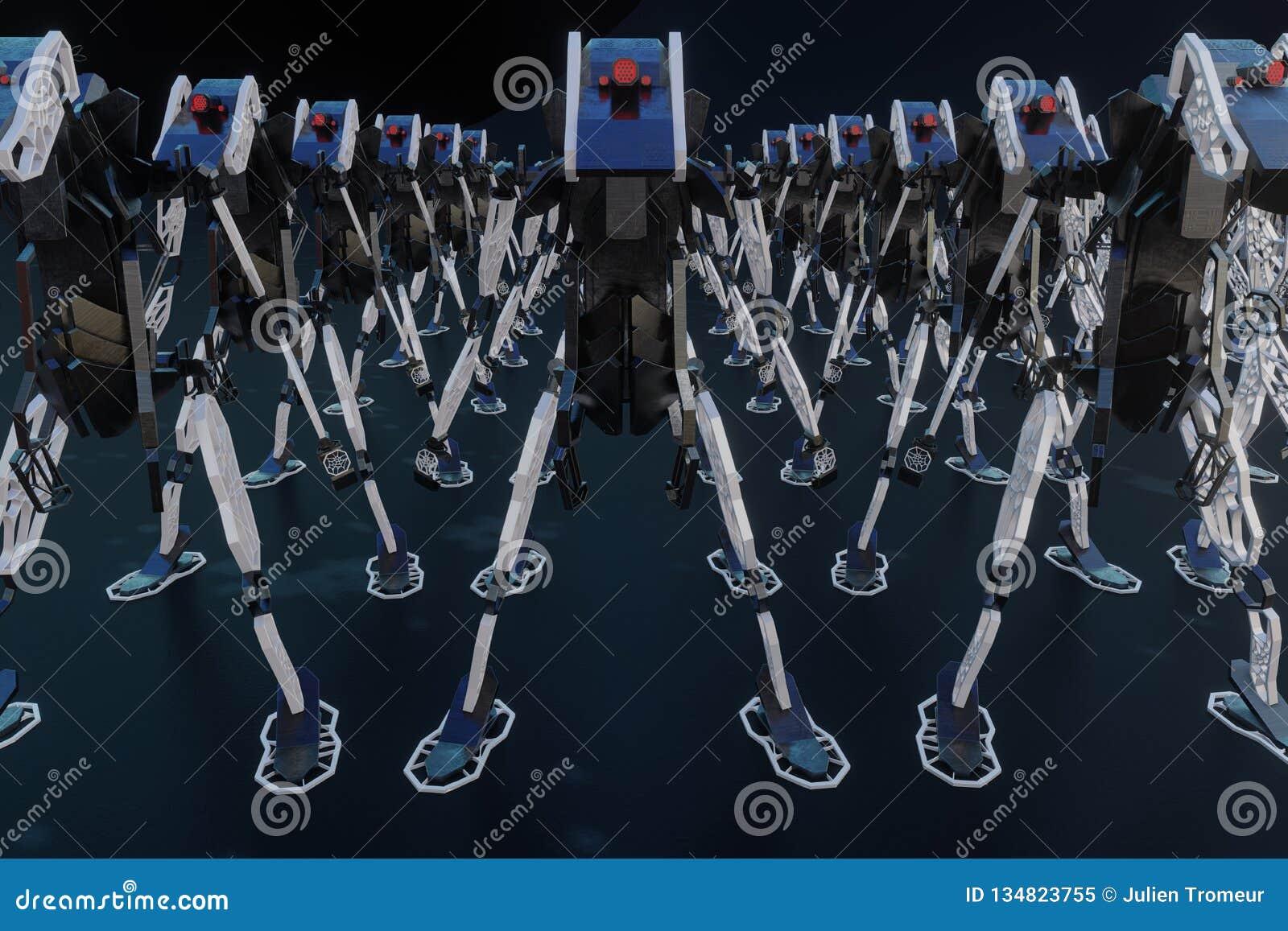 Generatywny robot - 3D ilustracja