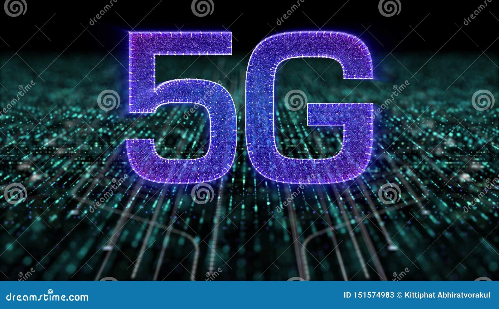 Generazione innovatrice ad alta velocità senza fili digitale dell icona 5G quinta