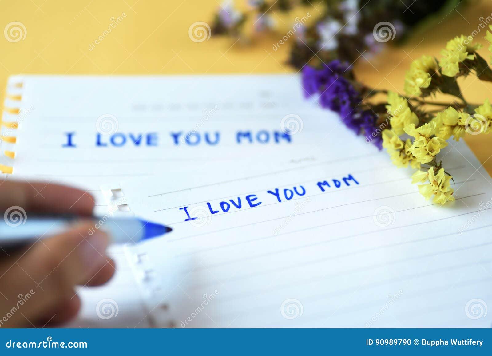 Generi Il Giorno Del S Ti Amo Scrittura Della Mamma Fotografia