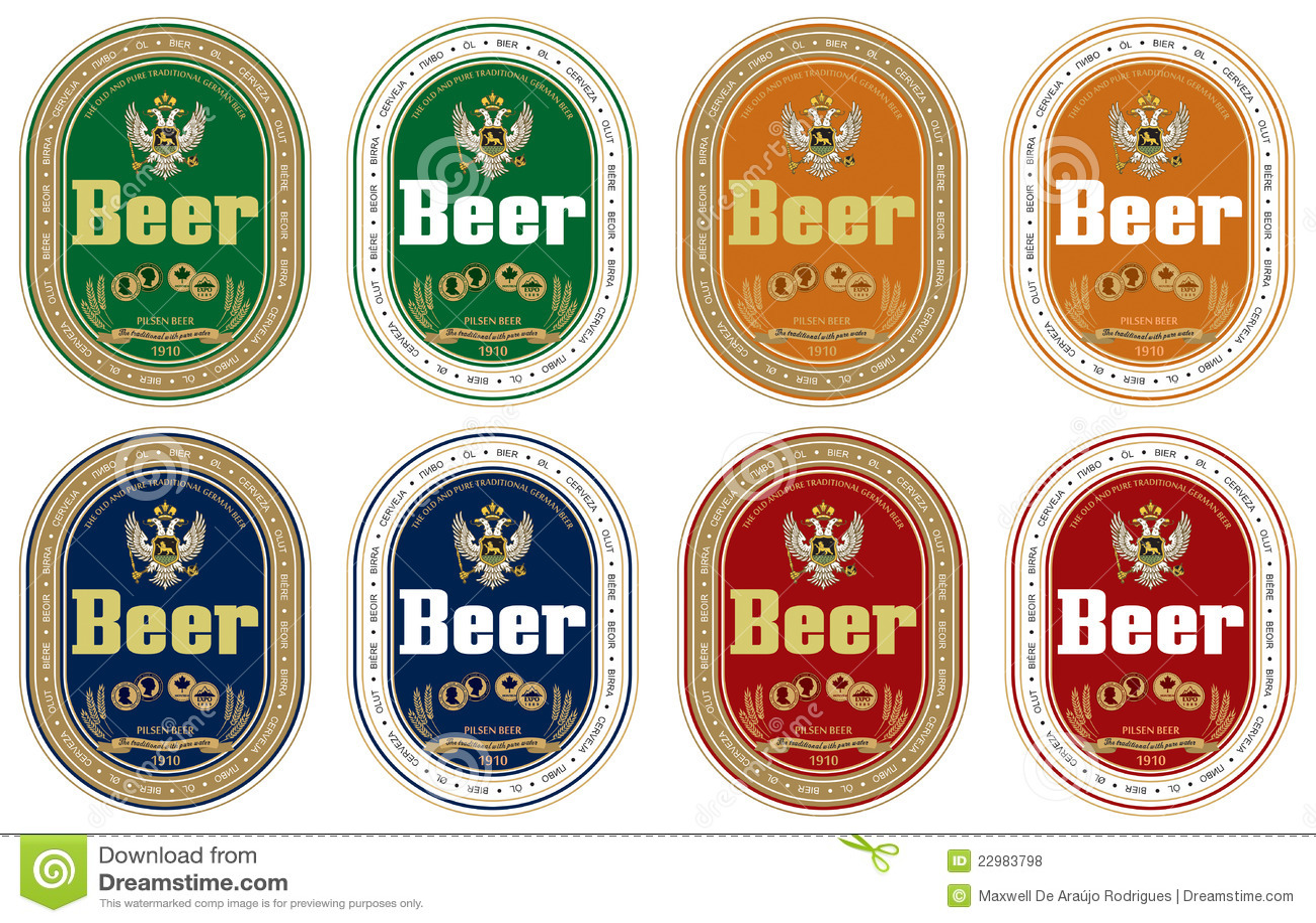 Generic beer label